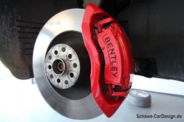 Lackierung Bremsanlage SCHAWE Bremssattel | Bentley GT oder GTC | Spezialanfertigung