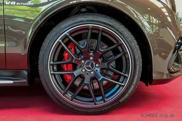 21 Zoll Felgensatz Kreuzspeichen GLE 63 AMG schwarz matt | GLE SUV W166 | Original Mercedes-Benz
