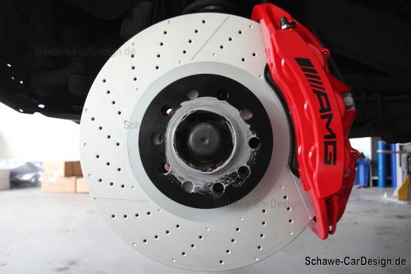 E63 AMG Bremssattel Bremsanlage rot lackiert Code U70 | E-Klasse W213 | Original Mercedes-Benz