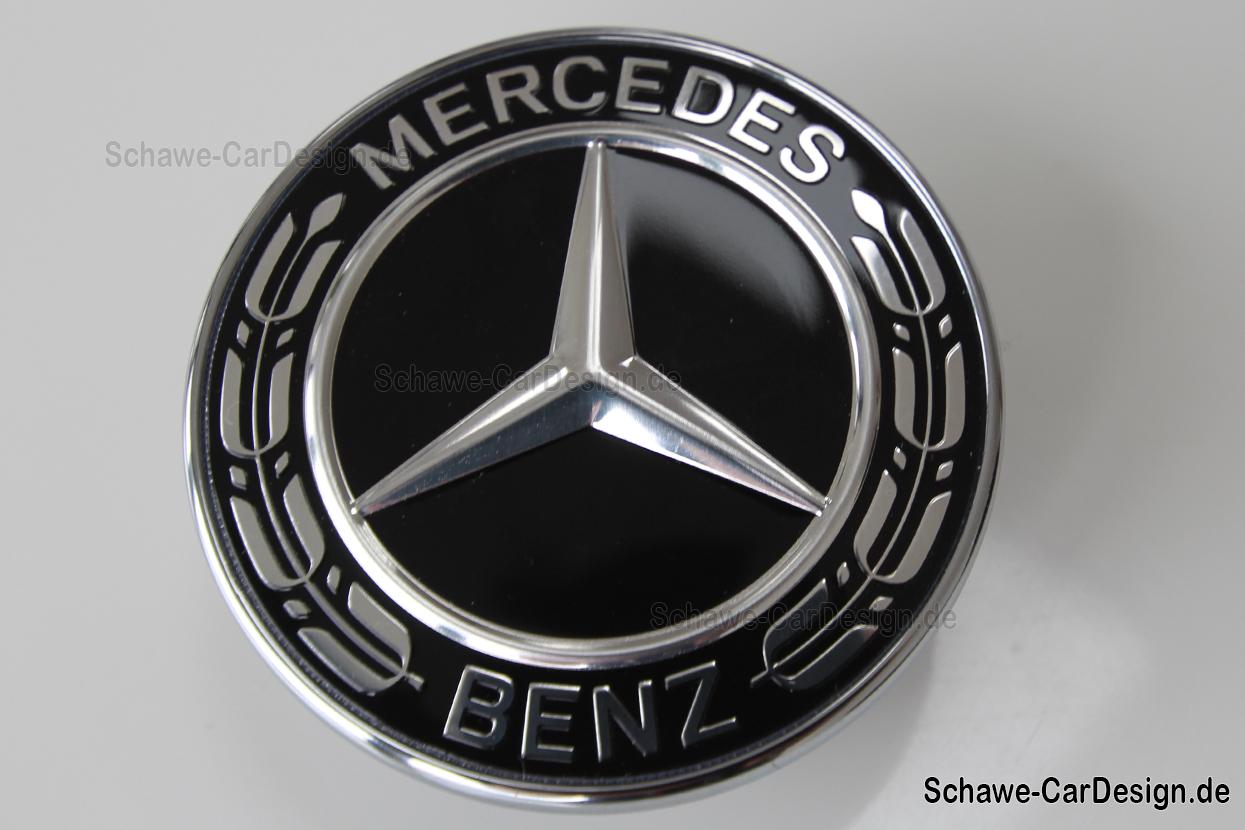 Mercedes benz emblem schwarz c klasse w205 original for Mercedes benz insignia