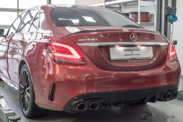 C43 AMG Facelift Diffusor mit Auspuffblenden | C-Klasse W205 Limousine | Original Mercedes-Benz