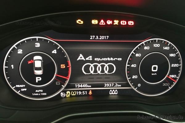 Codierung Zeigertest | Audi A4 8W | SCHAWE Softwareanpassung