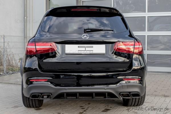 GLC 63 S AMG Diffusor mit Auspuffblenden | GLC SUV X253 | Original Mercedes-Benz