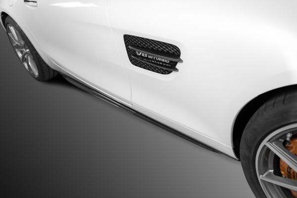 SCHAWE Carbon Aufsatz Seitenschweller | AMG GTS C190 | Spezialanfertigung in Glanz Carbon