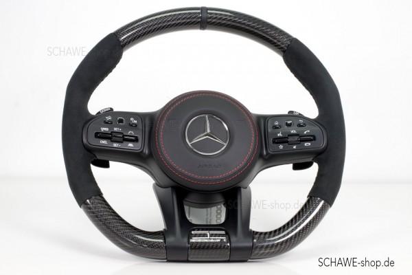 SCHAWE Carbon Lenkrad mit Lenkradheizung Edition Black | G-Klasse 464 | Spezialanfertigung