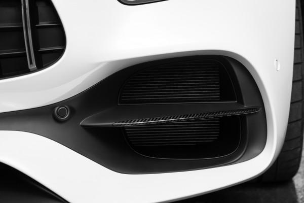 SCHAWE Carbon Zierleisten Frontschürze | AMG GTS C190 | Spezialanfertigung in Glanz Carbon