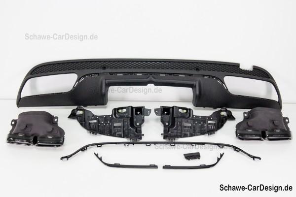 C63 AMG Diffusor mit Auspuffblenden | C-Klasse W205 Limousine | Original Mercedes-Benz