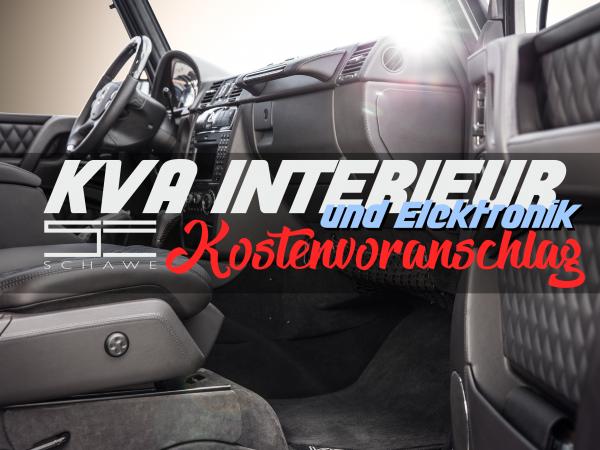 KVA Interieur mit Elektronik | SCHAWE Kostenvoranschlag