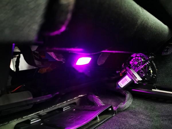 Erweiterung SCHAWE LED Ambientebeleuchtung Fußraum Fond | für Mercedes Benz C-Klasse BR205 und GLC BR205
