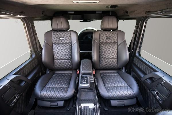 SCHAWE Einzelsitzanlage mit Mittelkonsole im Fond | G-Klasse W463 & 464 | Spezialanfertigung
