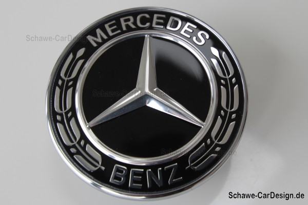 Mercedes Benz Emblem schwarz | neues Design | Original Mercedes-Benz