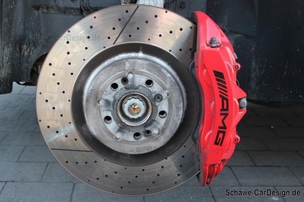 GLE 63 AMG Bremssattel Bremsanlage rot lackiert Code U70 | GLE Coupé C292 | Original Mercedes-Benz