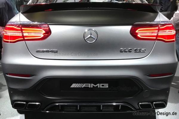 GLC 63 S AMG Diffusor mit Auspuffblenden | GLC Coupé C253 | Original Mercedes-Benz