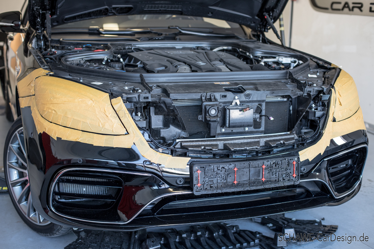 S63 AMG front apron with LED MULTIBEAM headlight | S-Class W222 | Original  Mercedes-Benz