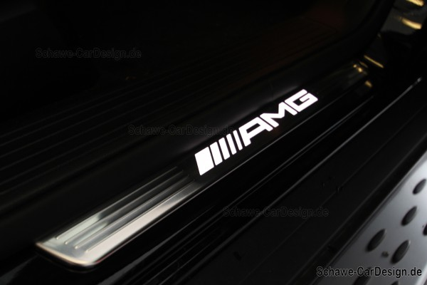 AMG Einstiegsleisten beleuchtet   GLE Coupé C292 oder X166   Original Mercedes-Benz
