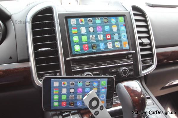 SCHAWE Multimedia für Apple TV | Porsche Cayenne 958 | Spezialanfertigung