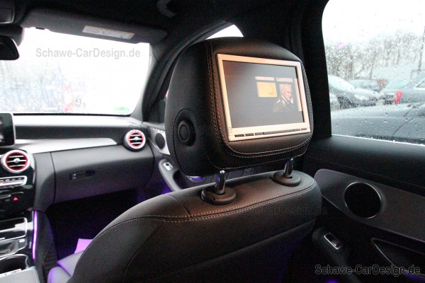 SCHAWE Fond Entertainment System | Mercedes-Benz C-Klasse W205 | Spezialanfertigung