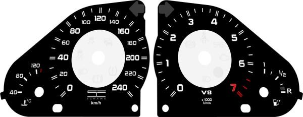 SCHAWE Tachoscheiben Zifferblatt | G-Klasse bis Facelift W463 | individuelles Design